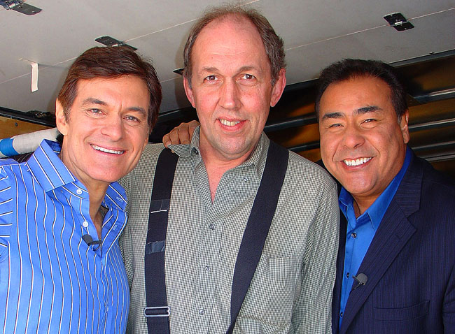 Dr. Oz, John Quinones and Jim Anderson