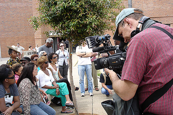 Shooting Road To Ingwavuma (ing-wah-VOOM-ah) for Executive Producer Deborah Santana in Soweto, South Africa.